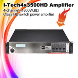 Potência 4X1800W do amplificador da voz do PA de I-Tech4X3500HD