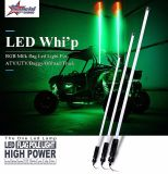 2017 Novo design Popular LED Whips para Buggy / ATV / UTV 4FT 5FT 6FT iluminado Bandeira Bluetooth Controle LED Whips Light