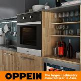 Oppein 360cm木穀物によって予め組み立てられる食器棚(OP17-HPL01)