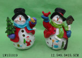 Xmas Snow Man Statue Figurine Decoração Craft for Ornament