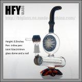 Pelele colorido americano de cristal de la cera del LENGUADO del petróleo de los aparejos del tubo de agua de Hfy que fuma