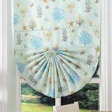 Aceitar cortinas romanas personalizadas do ventilador do Chenille para a sala de visitas (32R0014)