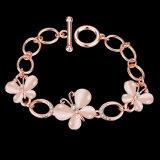 Tschechisches Bohrgerät-Armband-Opalfrauen-Armband-Rosen-Goldschmucksachen