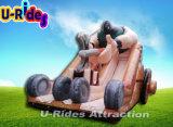 Glissière gonflable de glissière d'eau de parc d'attractions de pente commerciale pour des gosses et des adultes