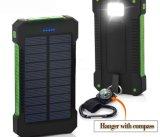 Banco de potencia cargador portátil resistente al agua, energía solar cargador solar de batería banco