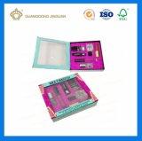 カスタム印刷を用いるOEMの高品質の引出しの形の装飾的なボックス(リボンの蝶結び目と)