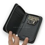 Бумажник ключевого случая PU промотирования черный кожаный