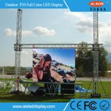 Sobre la pantalla al aire libre del alquiler LED de 6000nits P10 (960mm*960m m)