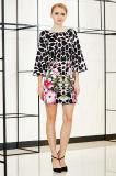 Vestido de mudança de impressão de lã Leopardo