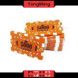 Billig/nummerierte Schürhaken-Chips mit ABS Plastikkasino-Chips Ym-Cp009/Cp010 kundenspezifisch anfertigen