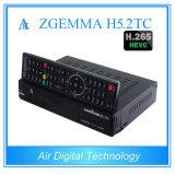 새로운 Zgemma 상자 인공위성 + 지구 쌍둥이 또는 유선 텔레비전 상자 결합 DVB S2 + DVB T2/C + DVB T2/C Zgemma H5.2tc