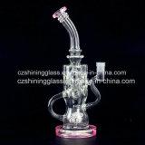 Glänzender bunter Entwurf Rind-Kopf Form-Tabak-rauchendes Wasser-Glasrohr