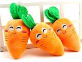 El patrón de zanahoria &Squeaky Peluche mascota de peluche juguete para perro
