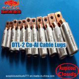 Dtl-2 압축 케이블 연결관 구리 알루미늄 케이블 끝 러그