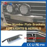 Steun van de Nummerplaat van de Vergunning van de Toebehoren van de auto de Auto Zilveren Lichte Voor Jeep