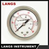 Líquido 061 enchido ou calibre de pressão de Fillable (aço inoxidável interno)