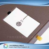 Visualizzazione regalo impaccante documento/di legno/contenitore di imballaggio cosmetico con l'inserto (xc-hbc-006)