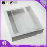 Tiroir de carton de couleur blanche à l'emballage cadeau afficher la boîte avec poignée d'or