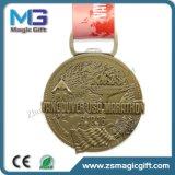 メダル締縄が付いているカスタマイズされた旧式な銅のスポーツメダルバッジ