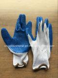 Перчатки перчаток латекса Crinkle вкладыша блокировки хлопка промышленные работая