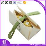 La conception de papier découpé au laser des bonbons au chocolat de mariage Box