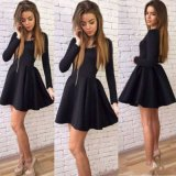 Black Mini robes élégantes court Homecoming Bijou fait sur mesure à manches longues pour les robes du soir simple robe de bal pas cher