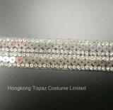 Corrente Multicolor do Rhinestone do ferro da guarnição do Sequin do Rhinestone de Hotfix de 2017 formas para o vestuário (corrente TS-multicolor)