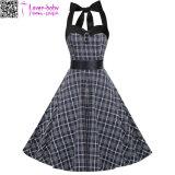 سوداء الدوائر النيون طباعة البسيطة فستان قصير (L27652)
