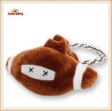 Juguete de la cuerda del perro del estilo del rugbi del juguete de la felpa del animal doméstico con la maneta (KB0030)