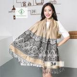 De Sjaal van de Jacquard van de Cachou van dame Fashion Pashmina Shawl Ethnic Stijl