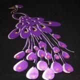 高品質の卸し売りGiltter紫色のCuttable PUのビニール