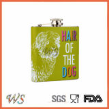 DSC_0045 impresión en color acero inoxidable Hip frasco de vacío Set / whisky petaca
