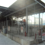 Gruppo di lavoro poco costoso della stazione di servizio della struttura d'acciaio con il disegno moderno