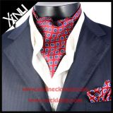 Les hommes façonnent à 100% le foulard de relation étroite d'Ascot d'impression d'écran en soie