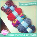 Poliéster que tece barato a tricotagem manual do fio de algodão extravagante