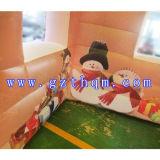 Раздувная красная дом для украшения празднества рождества/дом хвастуна рождества раздувная