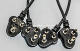Pinos cabo distribuidor de corrente elétrico industrial do plugue das peças do plugue do plugue da cavidade 3 de África do Sul e do soquete