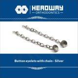 Argento basso rotondo accessorio ortodontico della catena della trazione dell'occhiello