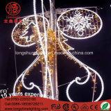 Bleu décoratif de bâti de fer de 2.5m à travers la lumière de Noël de rue