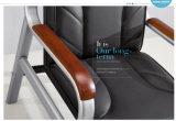 Sofà attendente di vendite del sofà di cuoio caldo dell'ufficio con la parte posteriore di livello in azione 1+1+3