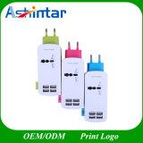 4 заряжатель стены заряжателя перемещения гнезда портов USB всеобщих 3in1