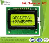 8X2 Character Display LCD, Mpu 8bit, Y / G Rétro-éclairage, Stn Type, COB LCD Screen