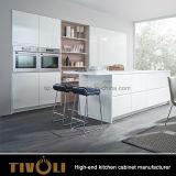 Gli armadi da cucina bianchi poco costosi per i progetti della cucina progettano Tivo-0293h per il cliente accettabile