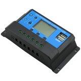 12V/24V 10A Dual o controlador solar Cm20K-10A da carga do controle de USB-5V/3A Light+Time