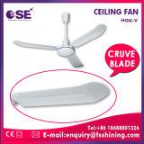 Ventilatore di soffitto industriale freddo dell'aria rotativa di plastica non elettrica da 56 pollici (HGK-V)