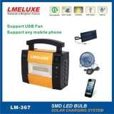 6V LEDの球根の移動式太陽貸出方式が付いている18W太陽電池パネル