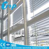 La pantalla de aluminio de alta fachada persiana de ventana de aluminio