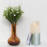 White en Silver Swing Flameless LED Candle met Afstandsbediening 10 en Timer