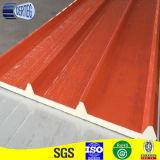 물결 모양 Prepainted 직류 전기를 통한 강철 PU 샌드위치 위원회 또는 지붕 위원회 또는 벽면