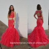 Vestido de noite E17921 de Tulle do laço dos vestidos de esfera do baile de finalistas do partido da jóia